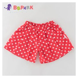 貝貝帕克 女童褲裙  嬰兒褲子寶寶純棉波點熱褲兒童短褲
