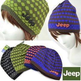 ^~IOIO^~JEEP2016大牌 保暖 雙色格紋 雙層 針織 毛帽AC 男女 情侶D8