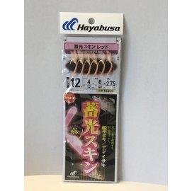 ^~魚彩^~ Hayabusa 蓄光スキン 船サビキ Sabiki 魚皮假餌 12號 SS