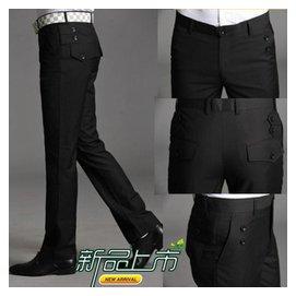 男士修身西褲商務 小腳西裝長褲英倫免燙正裝潮男褲子