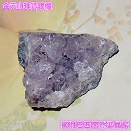 金元山珠寶銀樓~聚財巴西天然紫晶簇重約113公克 尺寸約6cmX4.5cmX3.5cm~紫