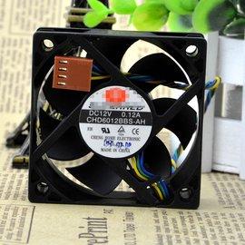 CHD6012BBS~AH 12V 0.12A 6CM 6020 四線 PWM溫控 CPU