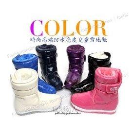 断货㊣韩国专柜正品时尚炫彩防水PU皮保暖雪地靴滑雪靴长筒靴28-38运动鞋码#1685XZXY亲子鞋女鞋