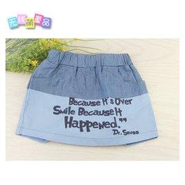 女童短裙褲裙短褲夏 牛仔裙2014款 滿女孩234567歲