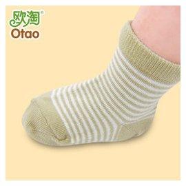 新生兒寶寶用品男女兒童 嬰兒襪子春夏透氣純棉短襪兒童棉襪子 米咖條紋厚款 碼^(12~24