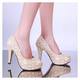 高跟鞋圓頭感 超高跟涼鞋拼色淺口 女鞋子防水台夜店單鞋