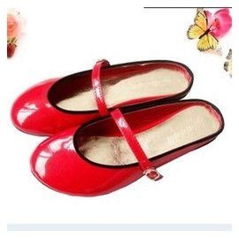 漆皮平跟平底糖果色甜美包頭純色圓頭金屬皮帶扣女士涼鞋 涼拖