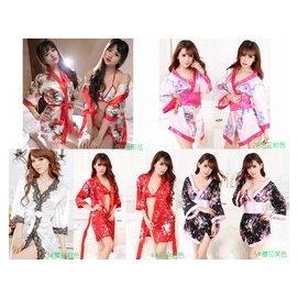 ~天天 ~ 一套~日式印花和服套裝誘惑女式性感情趣睡衣 情趣內衣 遊戲制服印花和服睡袍制服