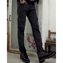 男裝2016正品潮款秋裝 修身型簡約軍工褲 長褲