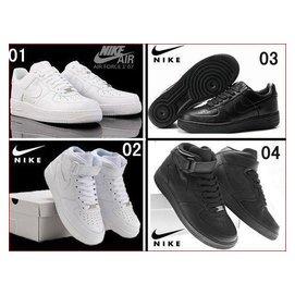 正品 Nike Air Force 1 07 AF1 全白全黑 滑板鞋男女 款 鞋 實拍