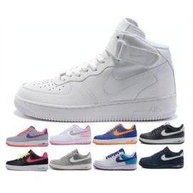 耐吉 Nike AIR FORCE 1 空軍一號 款AF1 低筒高筒板鞋全白全黑 情侶款大