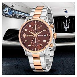 Maserati瑪莎拉蒂Epoca玫瑰金表殼石英男表R8873618001