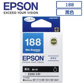 ~168大賣家~ EPSON 188 T188150  黑色墨水匣 975元 未稅