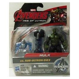 ^~ ^~ 漫威 復仇者聯盟2 奧創紀元 浩克 Hulk vs 奧創3號 2.5吋兩入人物