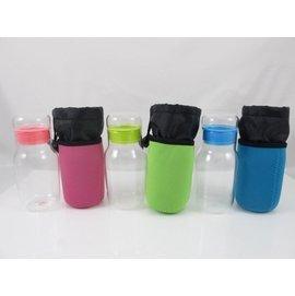 ~翔心坊~Quasi Chubby耐熱玻璃瓶320ml 登山 玻璃水瓶 隨身玻璃調味瓶 密