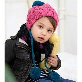 ~╮Darling Baby ~ 冬款 立體織紋絨線帽 護耳帽 價 99