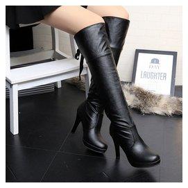 2015秋鼕靴子性感細跟高跟高筒靴過膝靴長靴女靴長筒騎士靴包郵潮