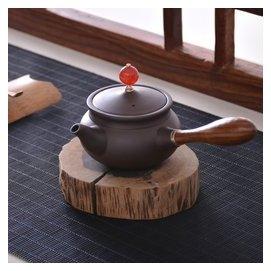 宜興紫砂壺球孔側把壺 原礦紫泥名家半 泡茶壺茶具 包郵