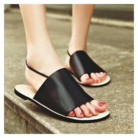 2016 夏簡約街女鞋夾腳沙灘鞋平跟平底夾趾女學院風夏羅馬涼鞋