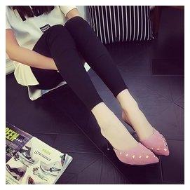 涼拖鞋女夏2016性感細跟包頭高跟涼鞋 尖頭鉚釘拖鞋半拖潮女鞋