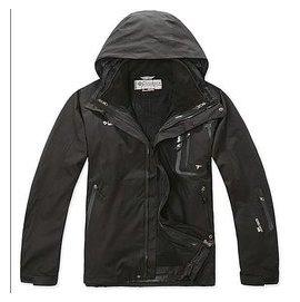 原單 防水透氣保暖GORE TEX 男款兩件式防寒外套 黑色101 戶外休閒