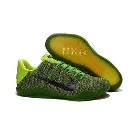 2017 Nike Kobe 11 Elite Low 編織 11代 zoom 彩虹 綠黑