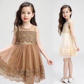 女童禮服 夏裝 兒童公主女童連衣裙 禮服女孩小孩紗裙子