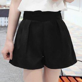 熱褲2016 高腰闊腿短褲女夏 雪紡寬鬆大碼A字休閒顯瘦