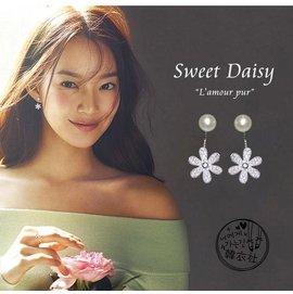 耳飾韓國925銀質耳釘女耳針后掛式氣質甜美耳環 簡約