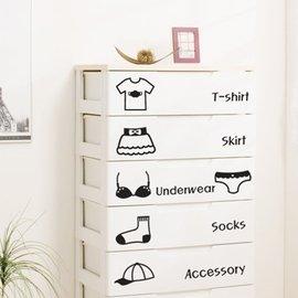 ^~宅配^~沃雅 韓國 臥室兒童房衣櫥柜 空調裝飾貼畫衣物分類�棤K紙