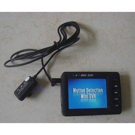 搖控啟動 鈕扣針孔CCD鏡頭攝影機 2.5吋DVR監視器 行車紀錄器 可遙控