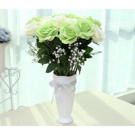 白色陶瓷小花瓶 簡約日式客廳擺件家居裝飾品 花盆花插花器