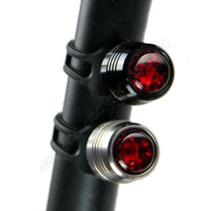 AQY- 自行車「USB充電」鋁合金鑽石尾燈:輕量化寶石警示燈  超高效續航46hr、防水