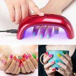 ~顏色 ~9W便攜式美甲光療機彩虹燈LED燈USB插電迷你30秒定時