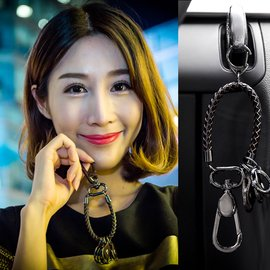 汽車鑰匙扣男女 bv編織鑰匙鏈 汽車鑰匙扣挂件生日 韓國