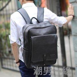 2016正品韓國KLING雙肩包 男士書包方形豎款背包筆記本電腦包