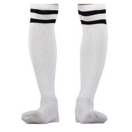 潘帕斯 長筒襪 螺紋面料 薄款多色足球 襪 白黑