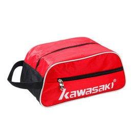 川崎 鞋包 羽毛球鞋袋 足球鞋籃球鞋透氣便攜式鞋袋收納包8105 ~8105紅色