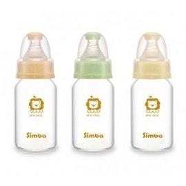 simba小獅王辛巴超輕鑽 直圓玻璃小奶瓶120ml 醫學耐熱玻璃  無鉛油墨^~S690