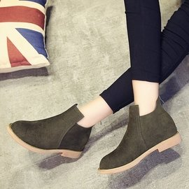 2016 靴子女 潮短靴春秋單靴舒適低跟學生皮靴百搭女靴