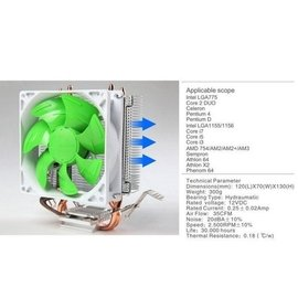 CPU散熱風扇 支援775 1156 1155 1150 AM3 FM2 CPU散熱器 非