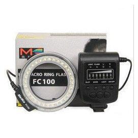 免 香港美科FC100 環形閃光燈 LED微距攝影燈 佳能 尼康 賓得  canon ni
