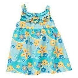 Crazy8 藍綠色 海洋風 花朵  洋裝 2Y 3Y 4Y 墾丁 渡假風