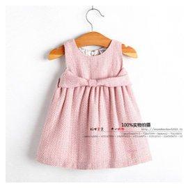 外貿春秋款 女寶寶童背心連衣裙 女嬰兒童百搭粉色公主無袖裙裝