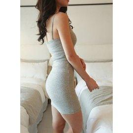 ~ M XXL~ #衣45 gey0522  細肩帶小性感洋裝  肩帶可調  100元