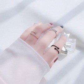 極簡風簡約戒指女潮人手飾指環日 韓國甜美關節尾戒裝飾品 533100991405