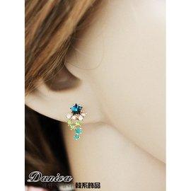 夾式耳環 正韓氣質甜美點點繁星流星雨閃亮水鑽 K6864 價 Danica 韓系飾品 韓國