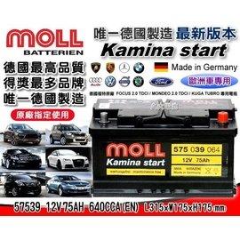 久大電池 德國 MOLL 57539 德國福特 FOCUS 2.0 TDCI MONDEO