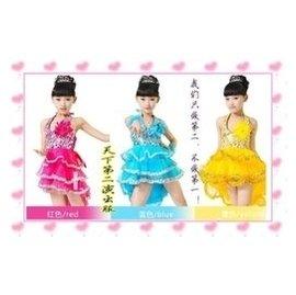 拉丁舞服裝 女童舞蹈服裝兒童練功服 表演服飾演出服裝女童燕尾群