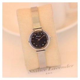金米歐手表女學生 簡約小巧表盤女士手鏈表防水石英鋼帶表腕表
